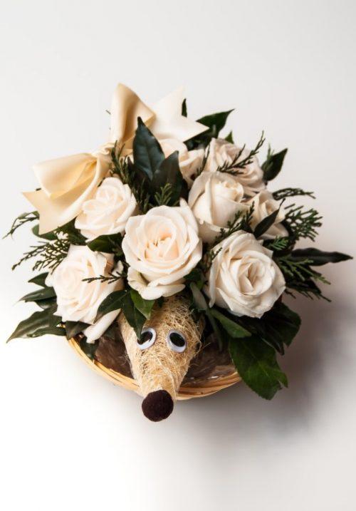 Happy Hedghog (15 roses)